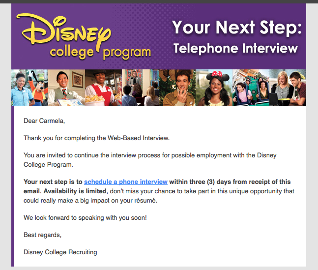How To Ace Your Disney College Program Phone Interview!  Disney College Program Resume